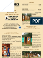 """Brochure """"Copeaux Dans La Noirceur"""" 2013"""