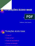 Titulações acido base