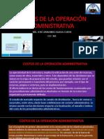 COSTOS DE LA OPERACIÓN ADMINISTRATIVA