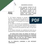 Publicidad regularización de propiedades
