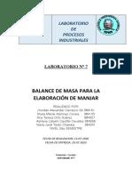 ELABORACIÓN DE MANJAR