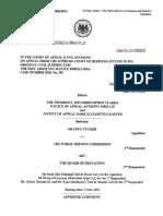 G Tucker v PSC & Anor [2020] CA(Bda) Civ 12 - Approved Judgment