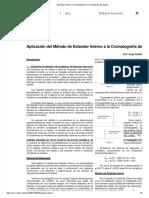 Estándar Interno _ Cromatografía _ Cromatografía de gases