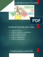 Valores y resolución de conflictos en el área profesional