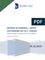 REPORTE - OVERHAUL (DESARMADO) DDGG CAT C4.4