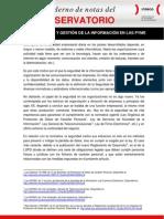Almacenamiento y gestión de la información en las pyme