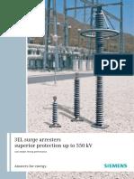 3EL surge arresters superior protection up to 550 kV