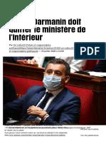 Gérald Darmanin doit quitter le ministère de l'Intérieur - Libération