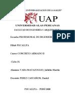 SEGUNDA PARCTICA DE CONCRETO ARMADO II
