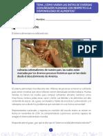 TALLER DBA 5 Cómo varían las dietas de diversas comunidades humanas con respecto a la disponibilidad de alimentos