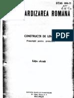 STAS 856-71 Constructii Din Lemn-Prescriptii Pt Proiectare