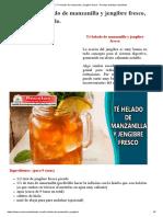 ▷Té helado de manzanilla y jengibre fresco - Recetas bebidas saludables