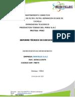 Informe protisa bases de filtro y estructura