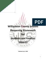 WCS Return to School 20 21 Parents