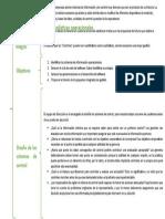 Sistemas de control, datos y estadísticas operacionales cuadro sinoptico