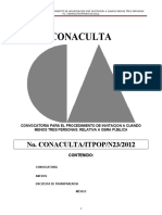 CONVOCATORIA CONACULTA-ITPOP-N23-2012