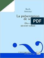 La présentation de soi- ethos et identité verbale- RUTH AMOSSY.pdf