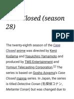 Case Closed (season 28) - Wikipedia