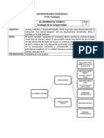 EL HOMBRE ES CUERPO, Teología de la Corporeidad (Ficha 13)