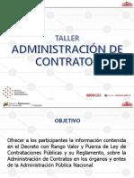 TALLER ADMINISTRACIÓN DE CONTRATOS DG