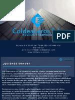 Brochure COLDEACEROS
