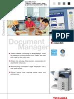 Toshiba Estudio255 305 Specifications Technical Datasheet