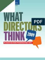 What Directors Think 2009 Supplement