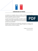 2020.07.23 Comunicado de Prensa - Promulgacion Reforma Constitucional Pensiones