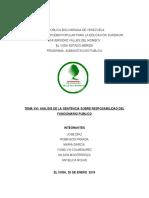 ANALISIS DE LA SENTENCIA SOBRE RESPONSABILIDAD DEL FUNCIONARIO PUBLICO