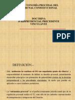4taSemanaDerechoProcesal Constitucional- Autonomia Procesal del Tribunal Constitucional (1)
