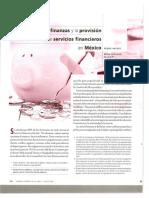 Las microfinanzas y la provision de servicios financieros