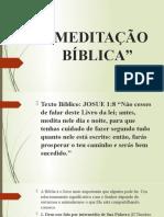 MEDITAÇÃO BÍBLICA
