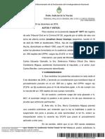 Excepcion caducidad salida alternativa Ocampo, Jonathan Oscar TOC 20