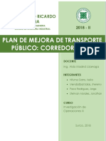 PLAN DE MEJORA DE TRANSPORTE PUBLICO