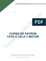 Manual Patron Vela y Motor 2014