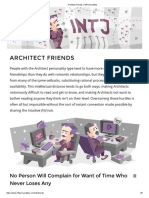 Architect Friends _ 16Personalities