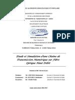Etude et simulation d'une chaine de transmission numerique sur fibre optique haut debit..pdf