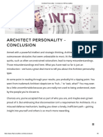 Architect Personality – Conclusion _ 16Personalities