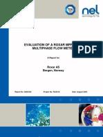 Tuv Nel - Evaluation of Roxar Mpfm2600 Multi Phase Flowmeter