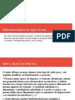 TIPOS DE TÓPICO FRASAIS - SLIDES.odp