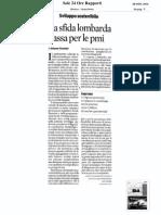 """Articolo di Arianna Visentini su """"Il sole 24 ore"""" del 8 Novembre 2010"""