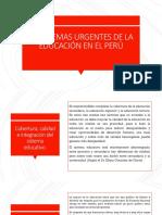 PROBLEMAS URGENTES DE LA EDUCACIÓN EN EL PERÚ.pdf