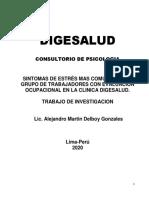 SINTOMAS DE ESTRÉS MAS COMUNES EN UN GRUPO DE TRABAJADORES CON EVALUACION OCUPACIONAL  EN LA CLINICA DIGESALUD1 (2) (1)