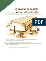 Estudio y análisis de la parte estructural de la Constitución