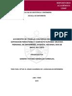 ACCIDENTES DE TRABAJO CON RIESGO BIOLOGICO HOSP 2 DE MAYO