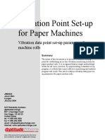 Vibration Point Set-up for Paper Machine