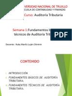 SEMANA N° 1 PPT FUNDAMENTOS BÁSICOS Y TÉCNICOS DE LA AUDITORÍA  TRIBUTARIA