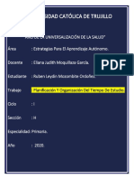 Planificación y Organización Del Tiempo de Estudio - Ruben Leydin Mozombite Ordoñez