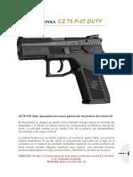 Pistola CZ 75 P-07 DUTY
