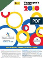 AEAT Taxpayer's Calendar 2010